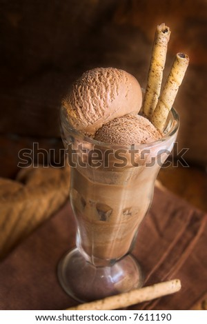 chocolate ice cream shake