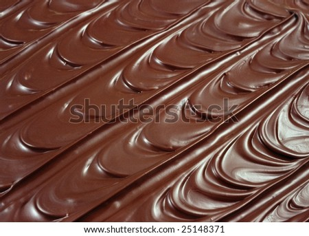 Chocolate icing - background