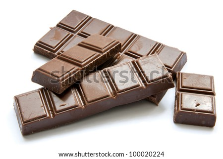 chocolate isolated on a white background