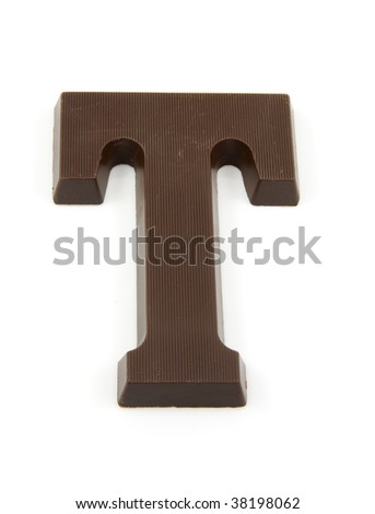 Chocolate letter T for Sinterklaas, event in the Dutch in december