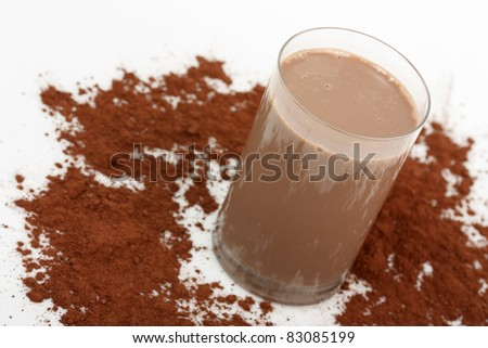 Chocolate Milkshake and Cocoa powder