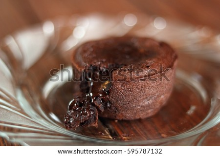 Chocolate Molten Lava Cake Photo stock ©