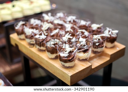 royalty free stock photos and images chocolate mousse for canape dessert. Black Bedroom Furniture Sets. Home Design Ideas