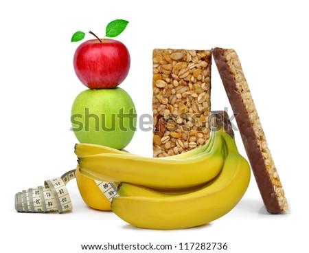 Chocolate Muesli Bars with fruits