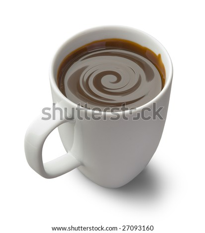chocolate mug isolated on a white