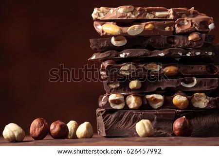 Chocolate /   nut chocolate / chocolate tower #626457992