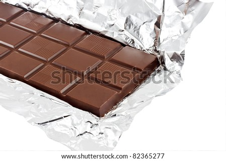 chocolate on a foil