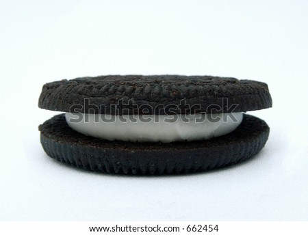 chocolate sandwich cookie Photo stock ©