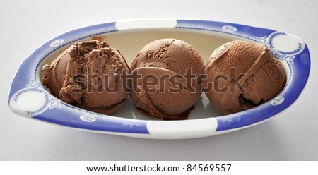 Chocolate Scoops in Bowl