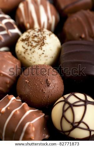 Chocolate selection.