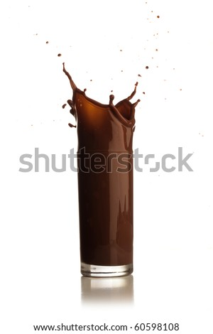 Chocolate splash.