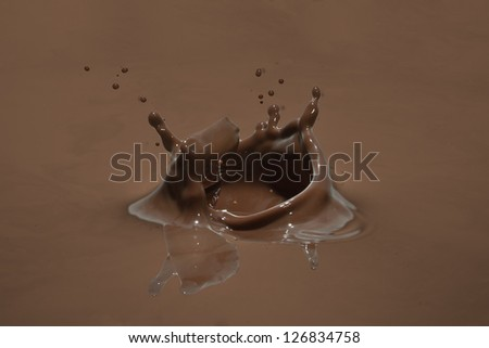 chocolate splash closeup - stock photo