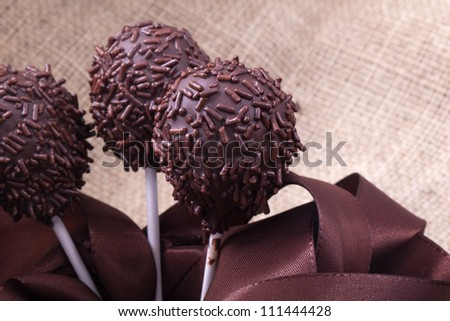 chocolate sprincle cakepops party food sweet dessert