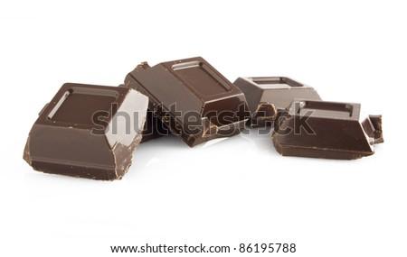 Chocolate sticks on the white