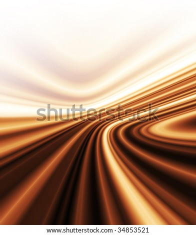 Chocolate stream, smooth chocolate texture background