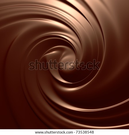Chocolate swirl background. Clean, detailed melted choco mass.