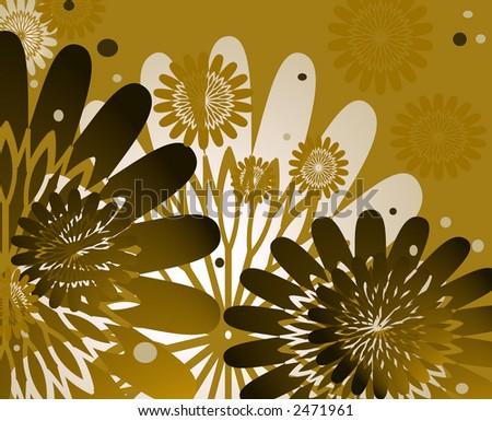 Chocolate Theme Neutral Flower Design