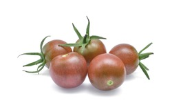 Chocolate Tomato or Brown color tomato  isolated on white background