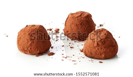 chocolate truffles covered with cocoa isolated on white background Сток-фото ©