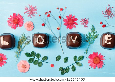 chocolate Valentine's present - stock photo