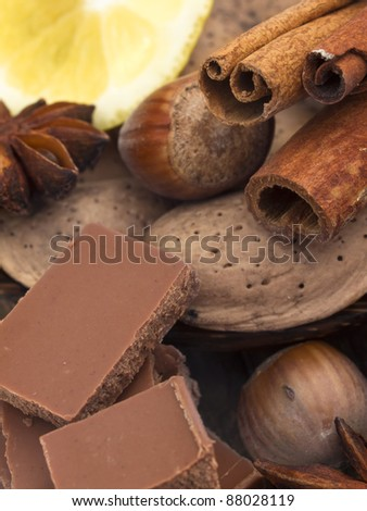 chocolate with ingredients