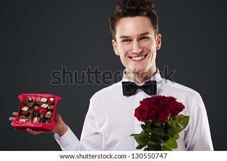 Chocolates and flowers for you!