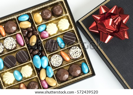 Chocolates in black box #572439520