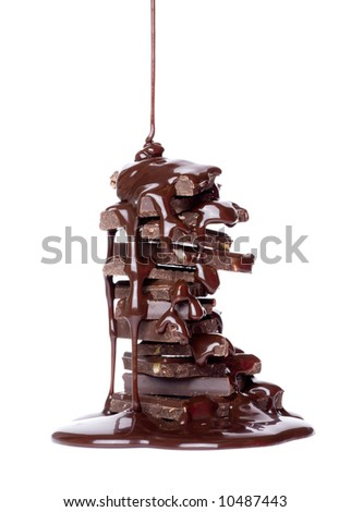 Chocolates on a light background