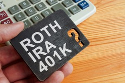 Choice between Roth IRA or 401k retirement plan.