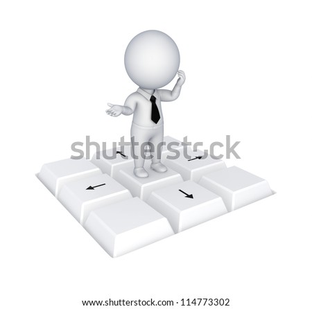Choice concept.Isolated on white background.3d rendered.