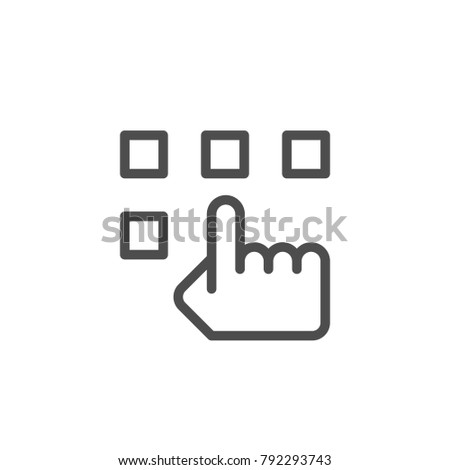 Choice line icon isolated on white. Vector illustration