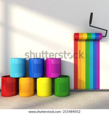 choice of colors for painting a room. colors of the rainbow