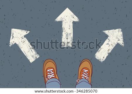 choice way road decision...