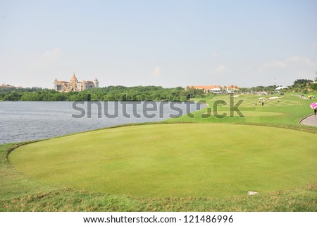 CHONBURI, THAILAND - DECEMBER 8 : A general view of The Golf Championship Thailand Round 3 at Ammata Spring Country Club on December 8, 2012 in Chonburi, Thailand.