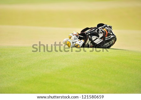 CHONBURI, THAILAND - DECEMBER 8 : A general view prior of The Golf Championship Thailand Round 3 at Ammata Spring Country Club on December 8, 2012 in Chonburi, Thailand.