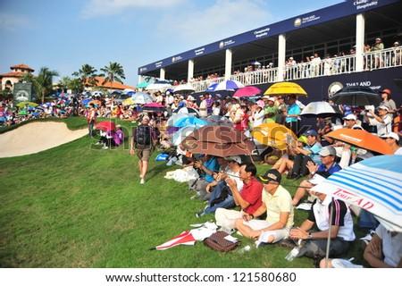 CHONBURI, THAILAND - DECEMBER 8 : A general view prior of The Golf Championship Thailand Round 3 at Ammata Spring Country Club on December 8, 2012 in Chonburi, Thailand.