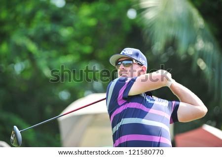 CHONBURI, THAILAND - DECEMBER 8 : The Golf Championship Thailand Round 3 at Ammata Spring Country Club on December 8, 2012 in Chonburi, Thailand.