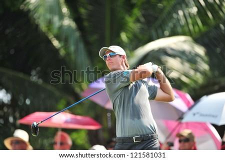 CHONBURI, THAILAND - DECEMBER 8 : Unidentified athlete in The Golf Championship Thailand Round 3 at Ammata Spring Country Club on December 8, 2012 in Chonburi, Thailand.