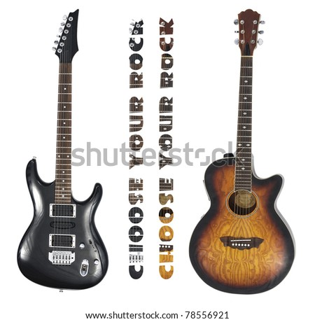Choose your rock style with two different guitars