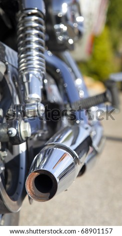 chopper motorbike exhaust