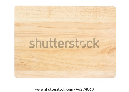 Chopping board isolated on a white background