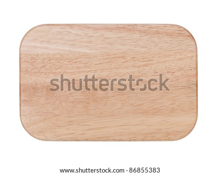 Chopping board. Isolated on white background