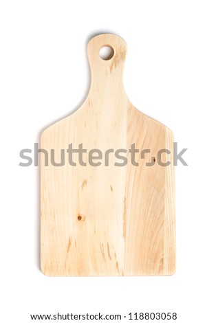chopping or cutting board on white background