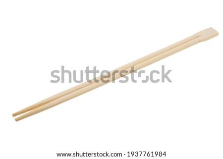 chopsticks for sushi isolated on white background Foto stock ©