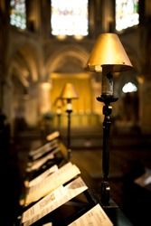 Chorister Stand at Tewkesbury Abbey