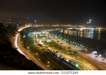 chorrillos panoramic view in lima peru