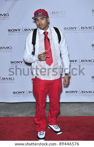 Chris Brown at the Sony BMG Music Entertainment party at the Beverly Hills Hotel following the 2008 Grammy Awards. February 10, 2008  Los Angeles, CA Picture: Paul Smith / Featureflash