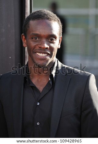 "Chris Chalk at the Los Angeles premiere for HBO's new series ""The Newsroom"" at the Cinerama Dome, Hollywood. June 21, 2012  Los Angeles, CA Picture: Paul Smith / Featureflash"