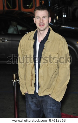 """Chris Evans at the premiere of """"10,000 BC"""" at the Grauman's Chinese Theatre, Hollywood. March 5, 2008  Los Angeles, CA Picture: Paul Smith / Featureflash"""