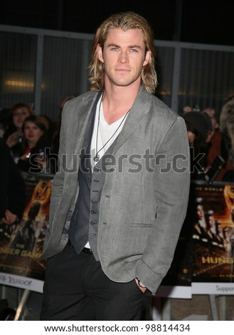 Chris Hemsworth arriving at the European Premiere of 'The Hunger Games' at the O2 Arena, London. 14/03/2012 Picture by: Alexandra Glen / Featureflash